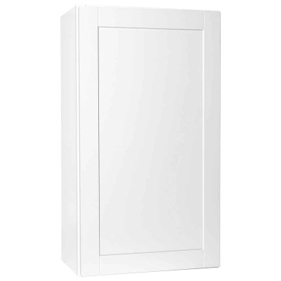 Continental Cabinets Andover 24 In. W. x 42 In. H. x 12 In. D. White Thermofoil Wall Kitchen Cabinet