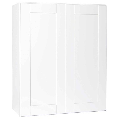 Continental Cabinets Andover 30 In. W. x 36 In. H. x 12 In. D. White Thermofoil Wall Kitchen Cabinet