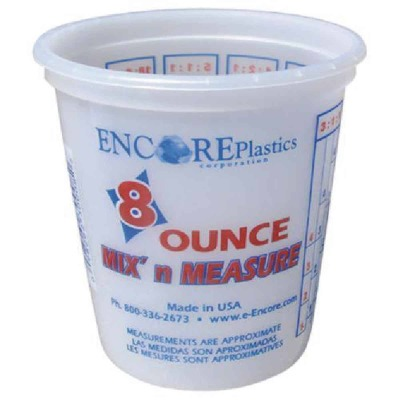 Encore Plastics Mix 'N Measure 1/2 Pt. Plastic Mixing & Storage Container, 150-758