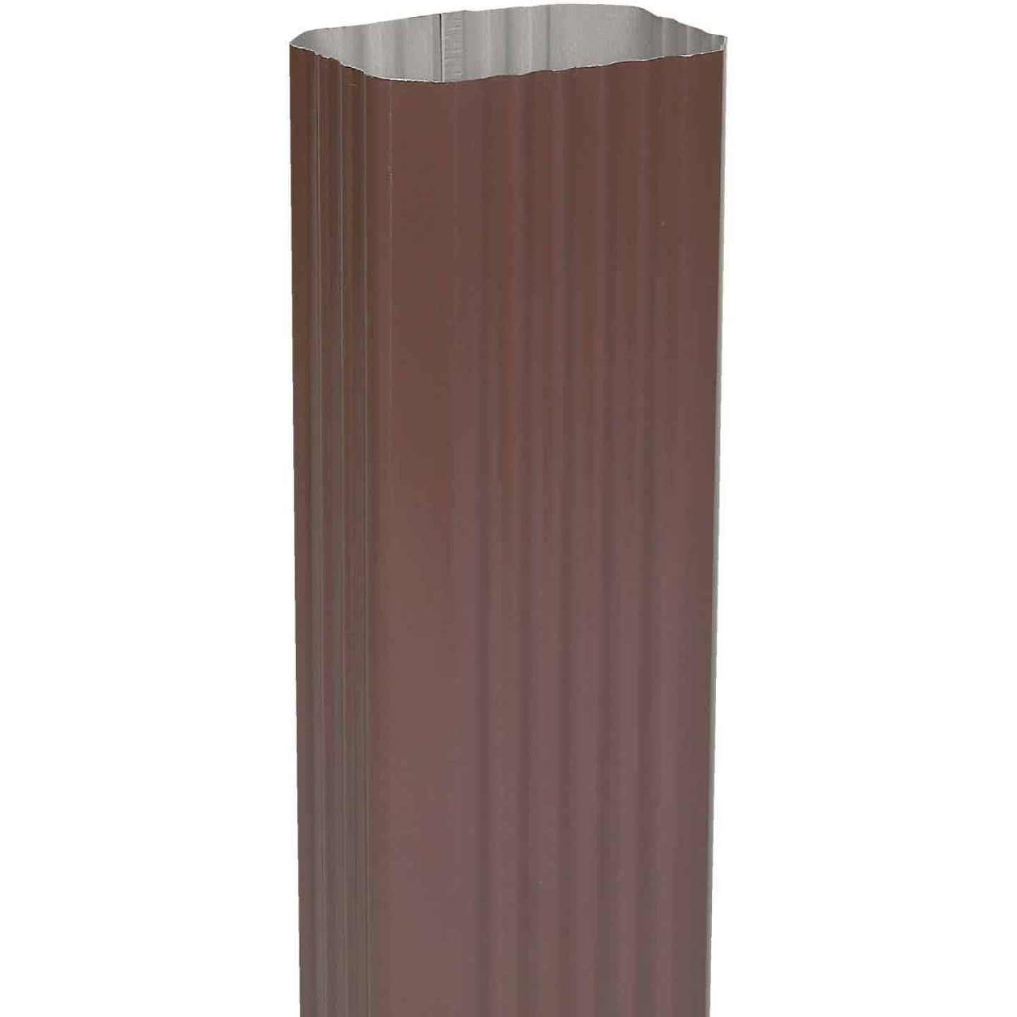 Amerimax 2 In. x 3 In. Brown Aluminum Downspout Image 1