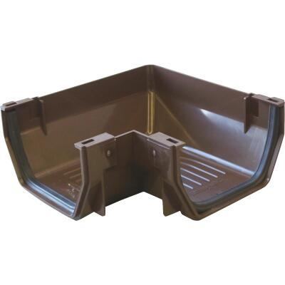 Raingo 5 In. Vinyl Brown Gutter Outside Corner