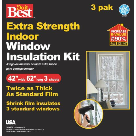 Do it Best 42 In. W. x 62 In. L. Shrink Window Film (3-Sheets)