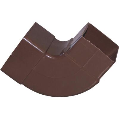 Raingo 2-1/2 In. Vinyl Brown Front or Side Downspout Elbow
