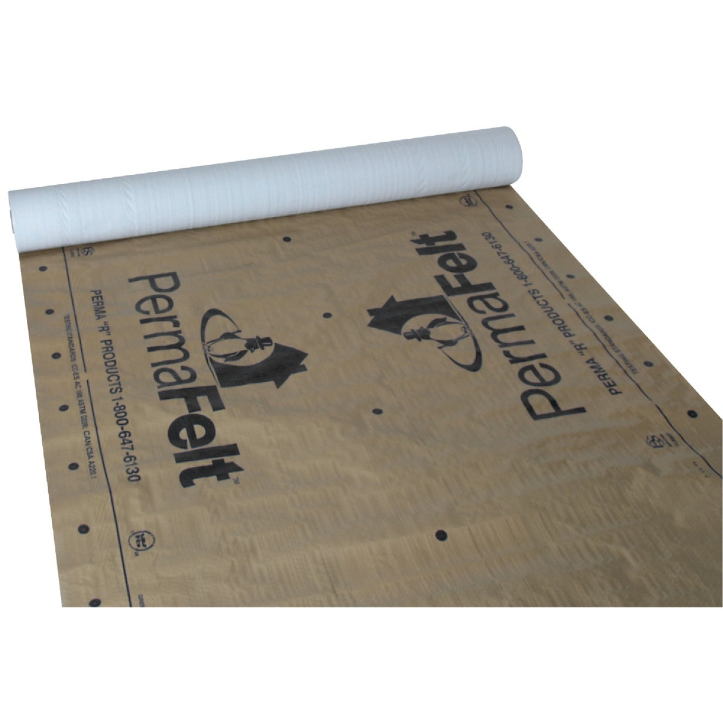 PermaFelt 48 In. x 250 Ft. Khaki Gold Synthetic Roof Felt Image 1