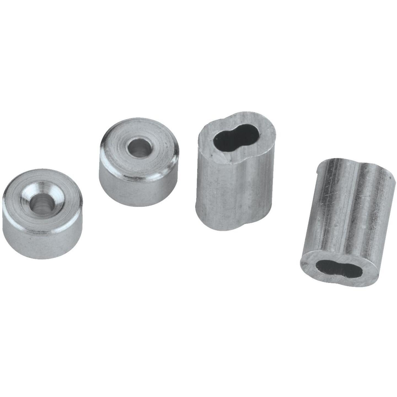National 3/32 In. Aluminum Garage Door Ferrule & Stop Kit Image 3