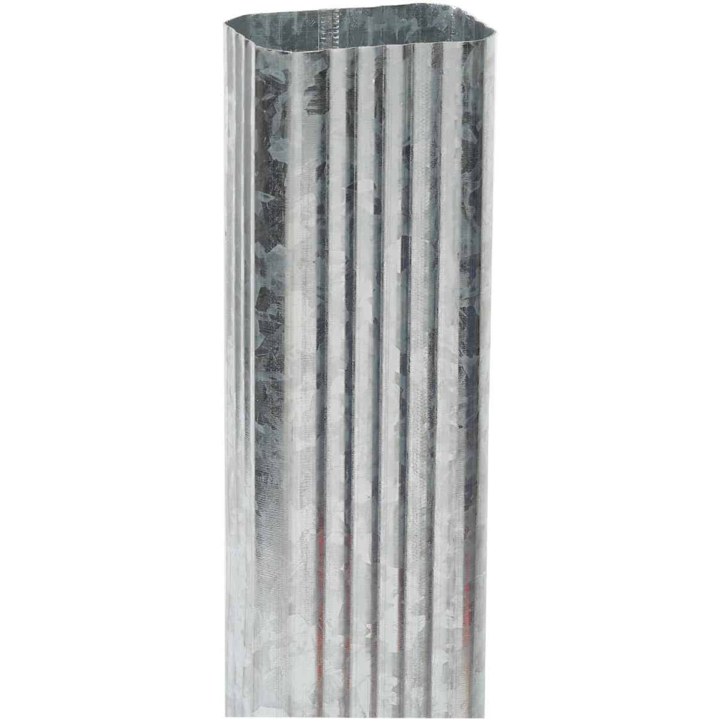 Amerimax 2 In. x 3 In. Galvanized Downspout Image 1