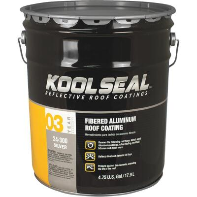 Kool Seal 5 Gal. Fibered Aluminum Roof Coating