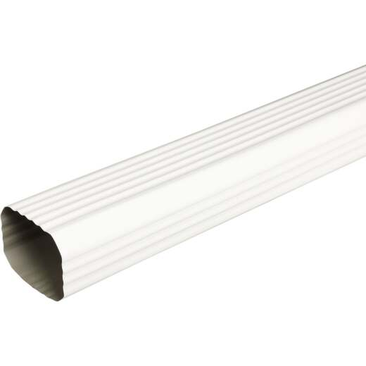 Spectra Metals 2 In. x 3 In. White Aluminum Downspout