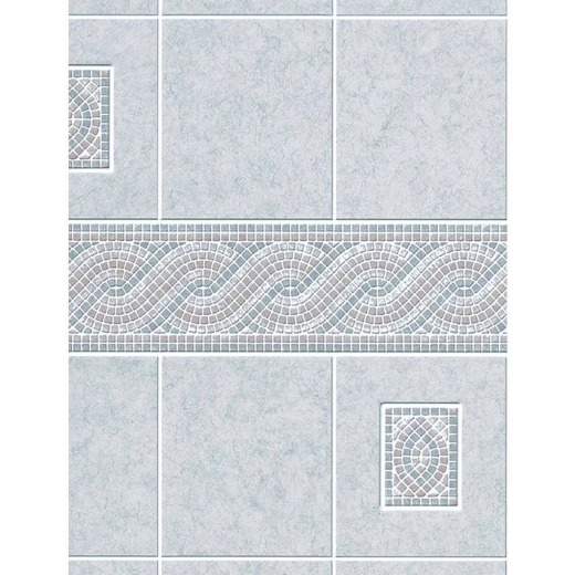 DPI AquaTile 4 Ft. x 8 Ft. x 1/8 In. Gray Encinitas Tileboard Wall Tile