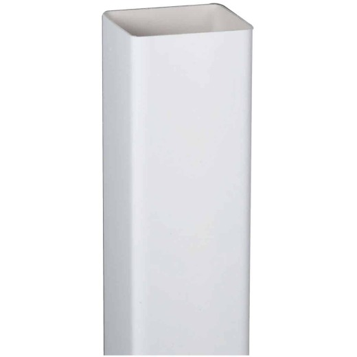 Amerimax 2 In. Square x 10 Ft. White Vinyl Downspout
