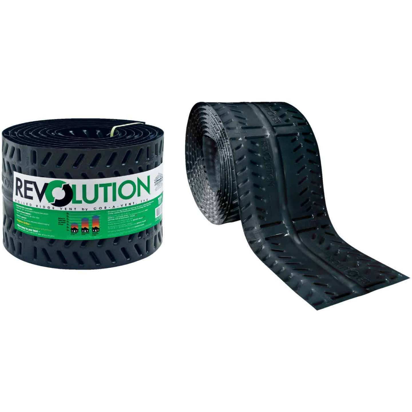Cor-A-Vent Revolution 11 In. x 20 Ft. Rolled Ridge Vent Image 1
