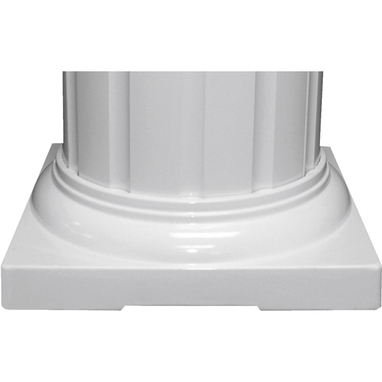 Crown Column 8 In. White Aluminum Standard Cap/Base Image 1