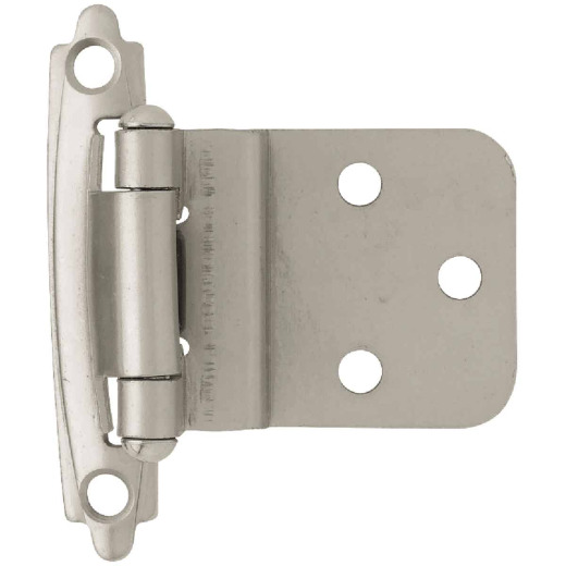 Liberty Matte Nickel 3/8 In. Self-Closing Inset Hinge, (2-Pack)