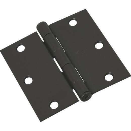 National 3-1/2 In. Square Oil Rubbed Bronze Door Hinge (3-Pack)