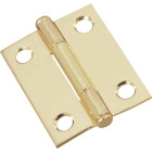 National 2 In. Brass Full-Inset Pin Hinge (2-Pack) Image 1