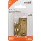 National 2 In. Brass Full-Inset Pin Hinge (2-Pack) Image 2