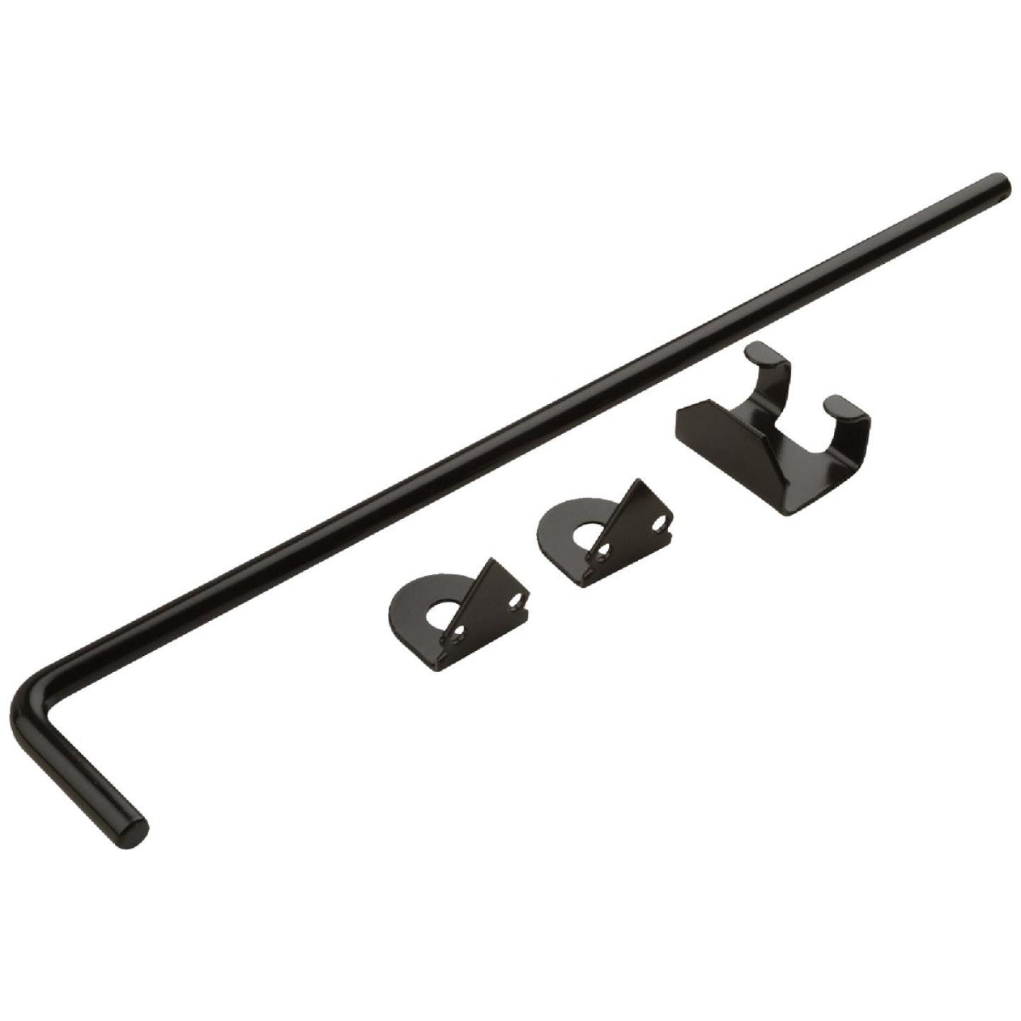 National 1/2 In. X 18 In. Black Steel Cane Bolt Image 1
