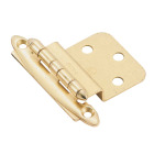 Amerock Polished Brass 3/8 In. Non Self-Closing Inset Hinge, (2-Pack) Image 1