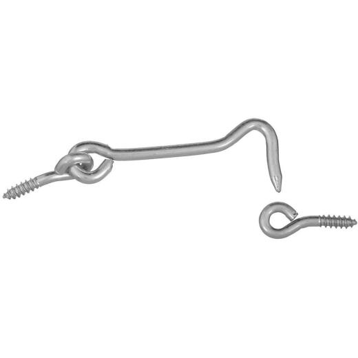 National 3 In. Steel Hook & Eye Bolt