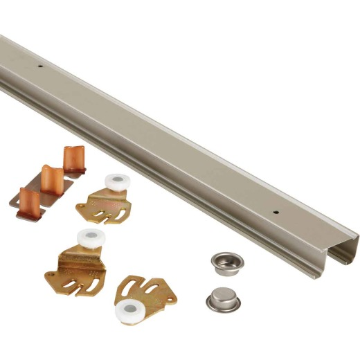 Johnson 48 In. Steel Bypass Door Hardware Set