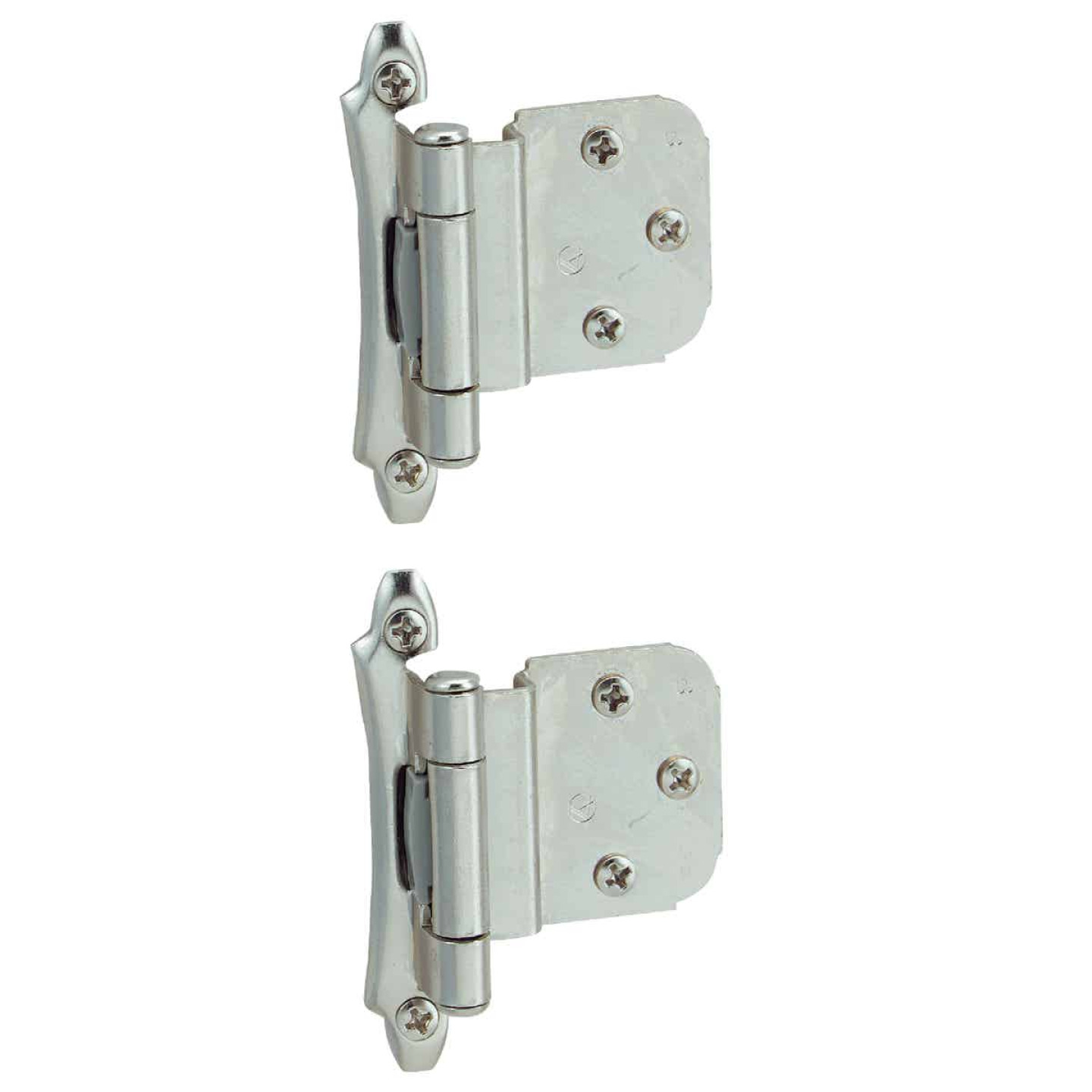 Amerock Polished Chromium 3/8 In. Self-Closing Inset Hinge, (2-Pack) Image 1