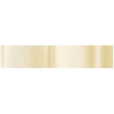 National 6 In. x 30 In. Brass Aluminum Kickplate