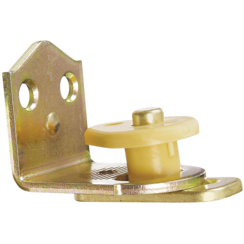 National 3/4 In. to 1-3/8 In. Satin Brass Swing & Stay Door Hinge Image 1