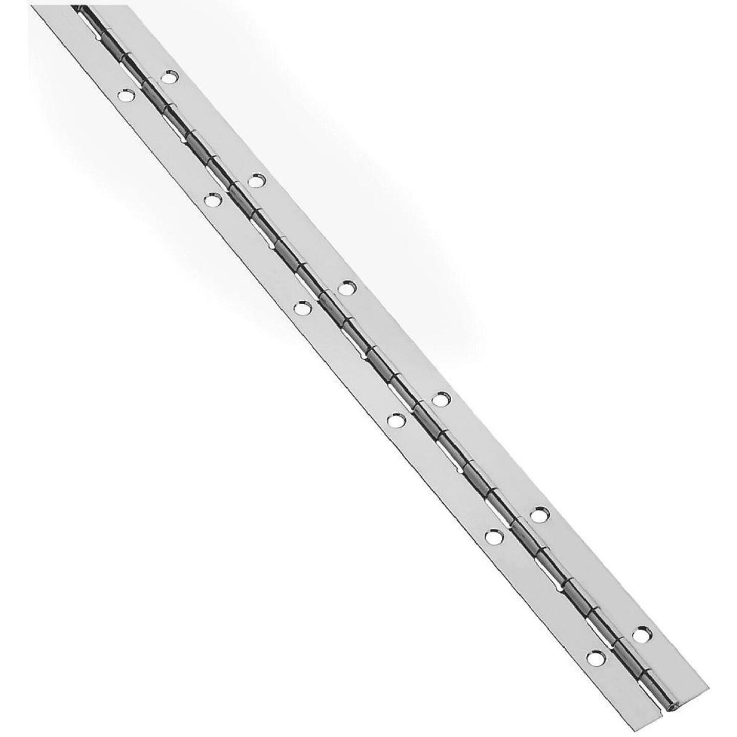 National Steel 1-1/16 In. x 48 In. Nickel Continuous Hinge Image 1