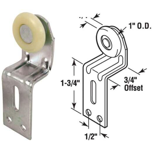 Prime-Line Wardrobe Door Roller (2-Count)