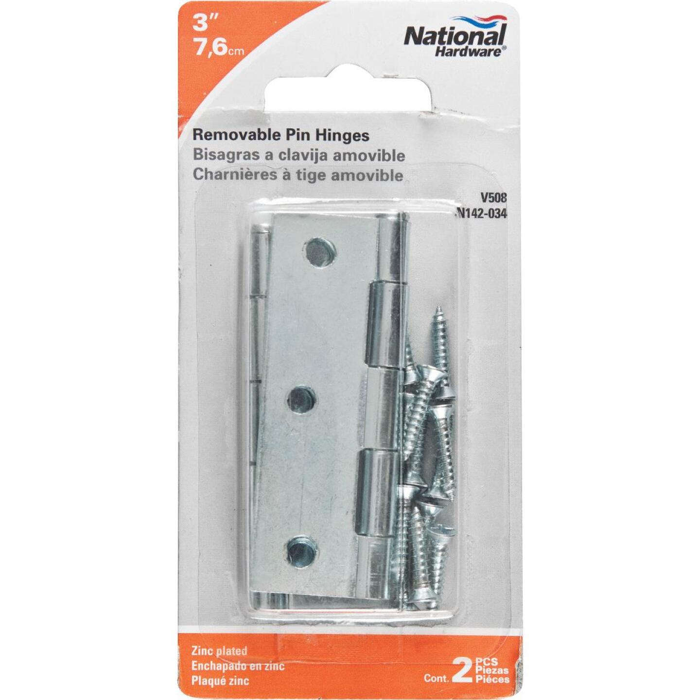 National 3 In. Zinc Loose-Pin Narrow Hinge (2-Pack) Image 2