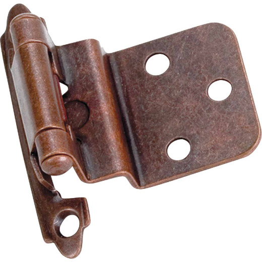 Laurey Venetian Bronze 3/8 In. Self-Closing Inset Hinge, (2-Pack)