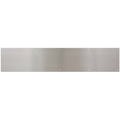National 6 In. x 30 In. Satin Nickel Aluminum Kickplate