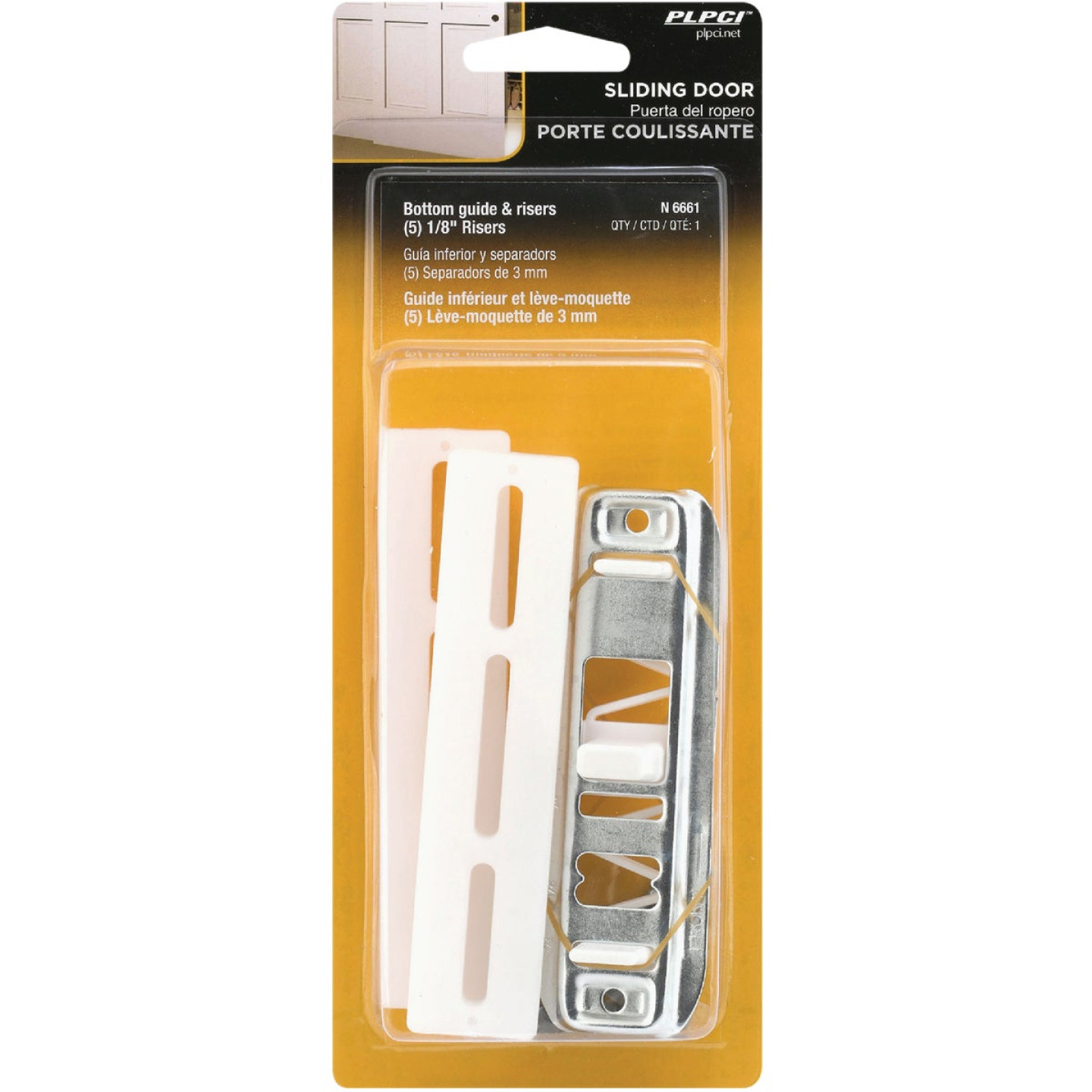Prime-Line Bypass Door Guide & Carpet Risers Image 2