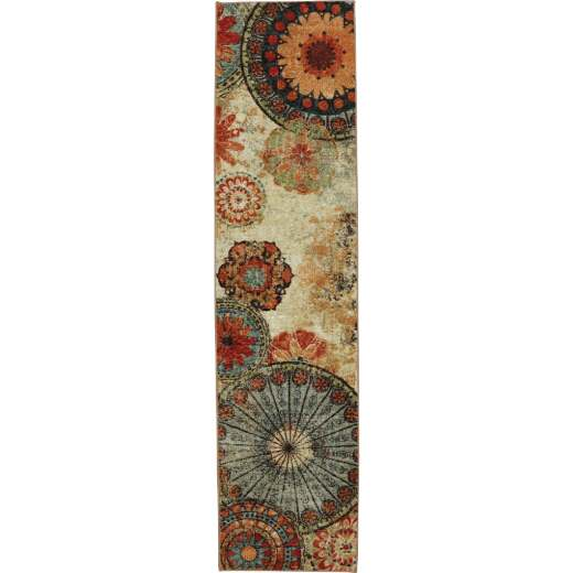 Mohawk Home Caravan Medallion 2 Ft. x 5 Ft. Runner Rug