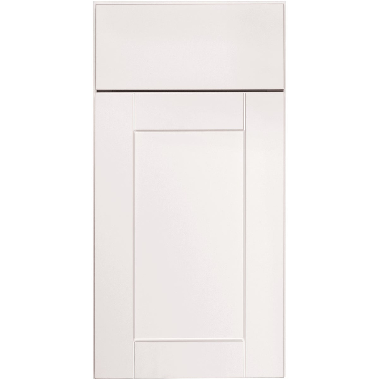 Continental Cabinets Andover Shaker 12 In. W x 30 In. H x 12 In. D White Thermofoil Wall Kitchen Cabinet Image 3