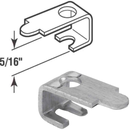 Prime-Line 5/16 In. Aluminum Casement Screen Clips (12 Count)