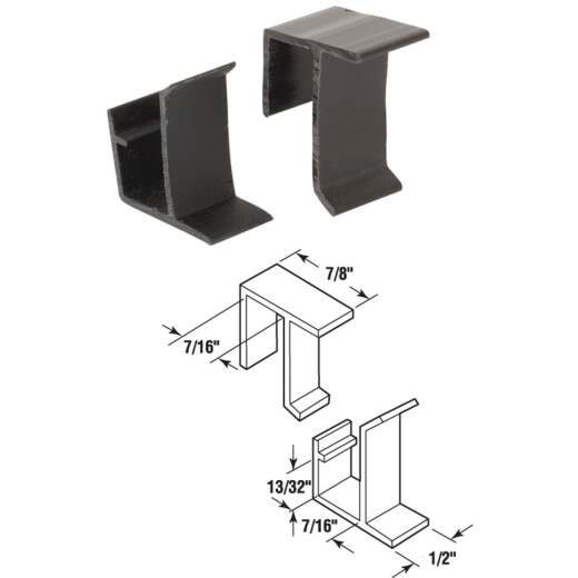 Prime-Line Top & Bottom Screen Retainer Clips (4 Sets)