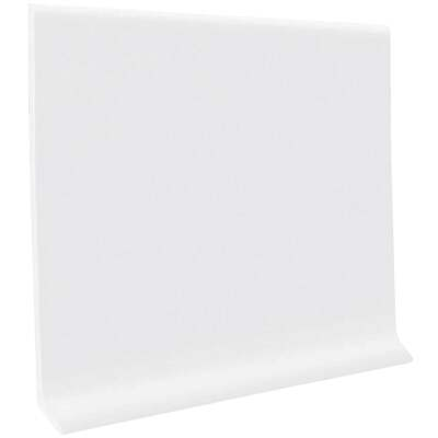 Roppe 4 In. x 4 Ft. Snow White Vinyl Dryback Wall Cove Base