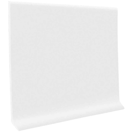 Roppe 4 In. x 20 Ft. Roll Snow White Vinyl Self-Stick Wall Cove Base