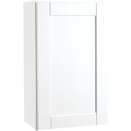 Continental Cabinets Andover Shaker 18 In. W x 30 In. H x 12 In. D White Thermofoil Wall Kitchen Cabinet