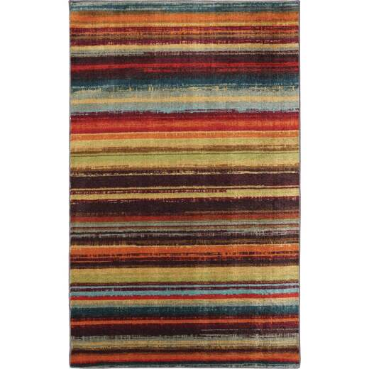 Mohawk Home Boho Stripe Multi-Color 5 Ft. x 8 Ft. Area Rug