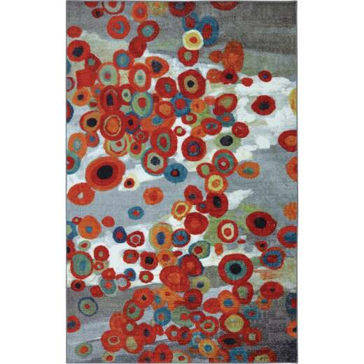Mohawk Home Tossed Floral Multi-Color 5 Ft. x 8 Ft. Area Rug