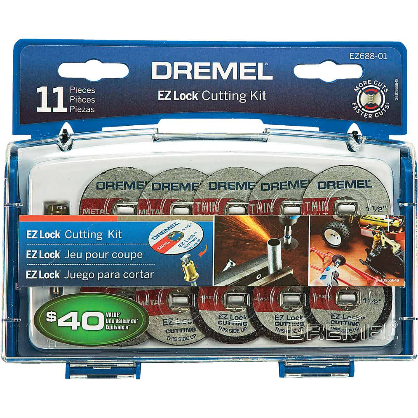 Dremel EZ Lock Cutting Rotary Tool Accessory Kit (11-Piece) Image 1