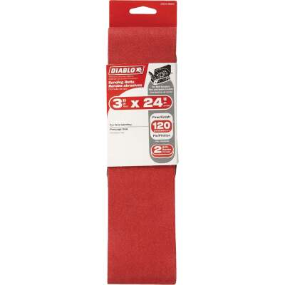 Diablo 3 In. x 24 In. 120 Grit General Purpose Sanding Belt (2-Pack)