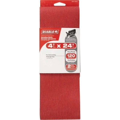 Diablo 4 In. x 24 In. 120 Grit General Purpose Sanding Belt (2-Pack)