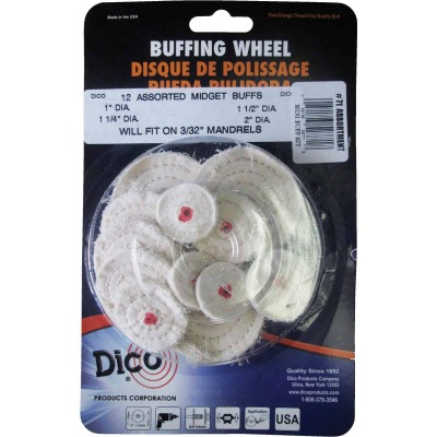Dico Assorted Buffing Wheel (12-Pack)
