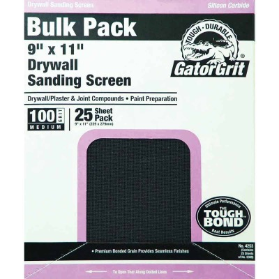 Gator Grit 100 Grit 9 In. x 11 In. Drywall Sanding Screen (25 Pack)