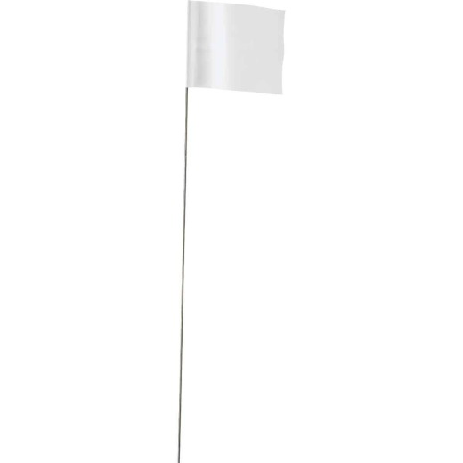 Empire 21 In. Steel Staff White Marking Flags