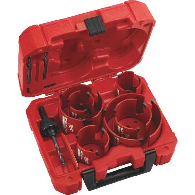 Milwaukee Big Hawg Carbon-Tipped Hole Saw Set (10-Piece)