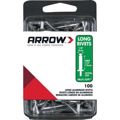 Arrow 1/8 In. x 1/2 In. Aluminum IP Rivet (100 Count)
